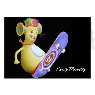King Monty on Skate Board Card