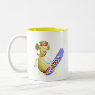 King Monty on Skate Board Coffee Mugs