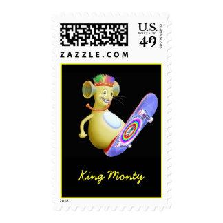 King Monty on Skate Board Postage