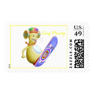 King Monty on Skate Board Postage Stamp