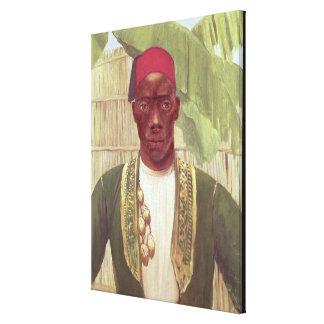 King Mutesa of Buganda, from a photo Canvas Print