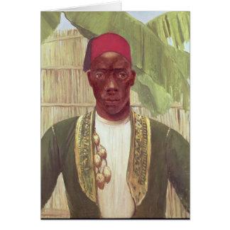 King Mutesa of Buganda, from a photo Greeting Card