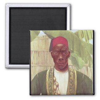 King Mutesa of Buganda, from a photo 2 Inch Square Magnet