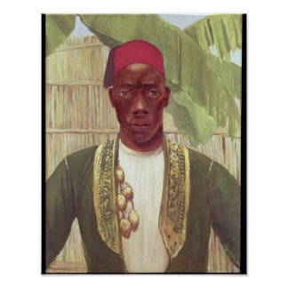 King Mutesa of Buganda, from a photo Poster