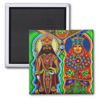 King n Queen  2 Inch Square Magnet