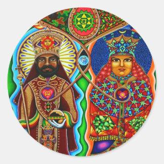King n Queen  Classic Round Sticker