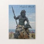 """King Neptune in Virginia Beach Jigsaw Puzzle<br><div class=""""desc"""">A large statue of the Roman God of the Seas,  King Neptune in Virginia Beach,  Virginia.</div>"""
