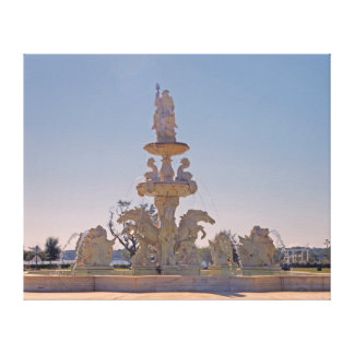 King Neptune on Water Fountain Canvas Print