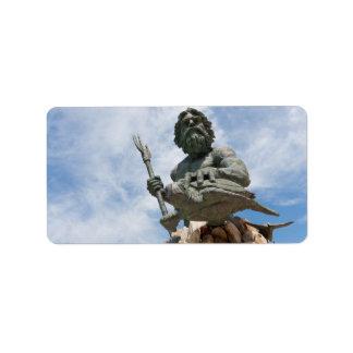 King Neptune Virginia Beach Statue Label