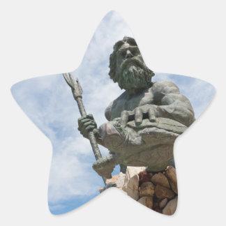 King Neptune Virginia Beach Statue Star Sticker