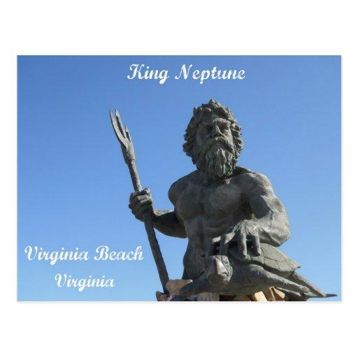 King Neptune, Virginia Beach, Virginia Postcard