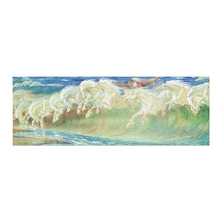 King Neptune's Horses by Walter Crane Canvas Print