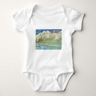 King Neptune's Horses on the Beach Baby Bodysuit