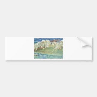 King Neptune's Horses on the Beach Bumper Sticker