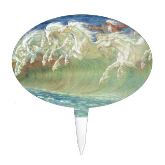 King Neptune's Horses on the Beach Cake Topper