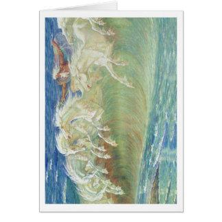 King Neptune's Horses On the Beach Card