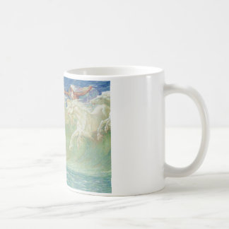 King Neptune's Horses on the Beach Coffee Mug