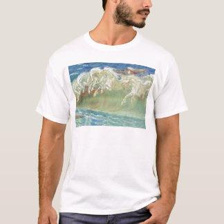 King Neptune's Horses on the Beach T-Shirt