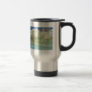 King Neptune's Horses on the Beach Travel Mug