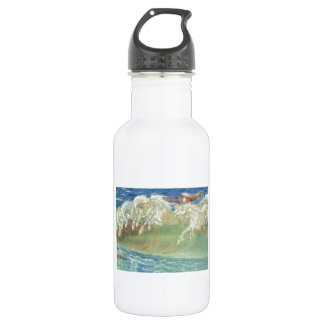 King Neptune's Horses On the Beach Water Bottle
