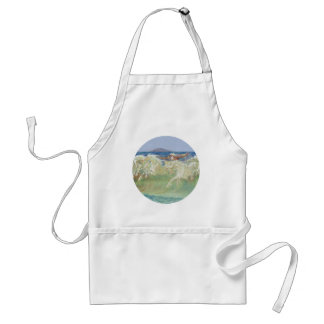 KING NEPTUNE'S HORSES RIDE THE WAVES APRON