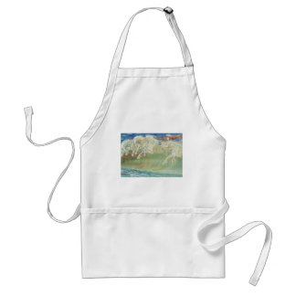 KING NEPTUNE'S HORSES RIDE THE WAVES APRONS