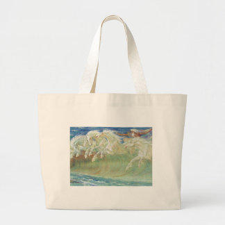 KING NEPTUNE'S HORSES RIDE THE WAVES CANVAS BAG