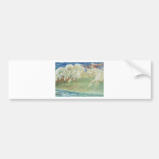 KING NEPTUNE'S HORSES RIDE THE WAVES BUMPER STICKER