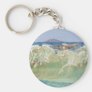 KING NEPTUNE'S HORSES RIDE THE WAVES KEYCHAIN