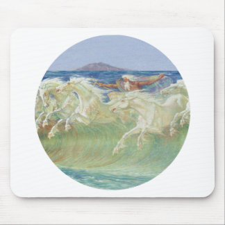 KING NEPTUNE'S HORSES RIDE THE WAVES MOUSE PAD
