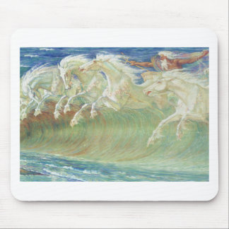 KING NEPTUNE'S HORSES RIDE THE WAVES MOUSE PADS