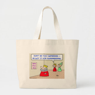 king nobel peace prize surrendering large tote bag