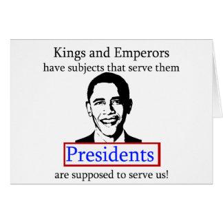 King Obama? Card