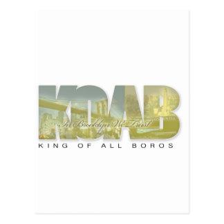King Of All Boros #KOAB Postcard