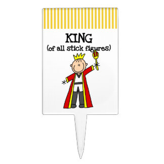 King of All Stick Figures Cake Topper
