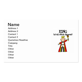 King of All Stick Figures Double-Sided Standard Business Cards (Pack Of 100)