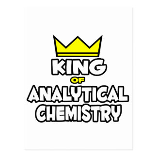King of Analytical Chemistry Postcard