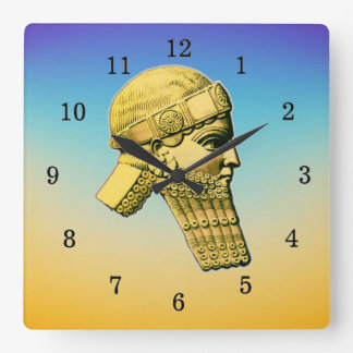 King of Assyria Acrylic Wall Clock