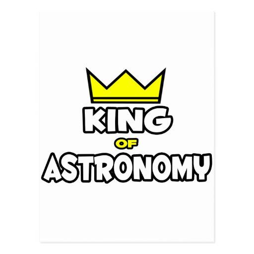 King of Astronomy Postcard