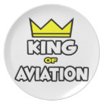 King of Aviation Party Plates