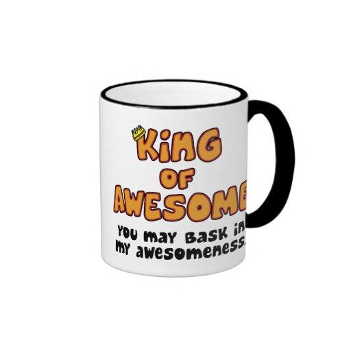 King Of Awesome Ringer Coffee Mug Zazzle