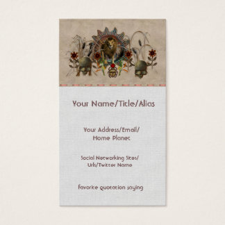 King Of Beasts Business Card
