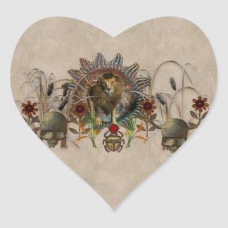 King Of Beasts Heart Sticker