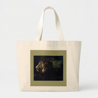 King of Beasts Large Tote Bag