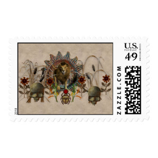 King Of Beasts Postage Stamp