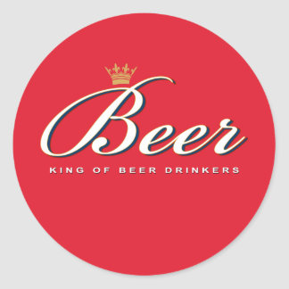 King of Beer Drinkers | Funny Drinking Gift Sticker