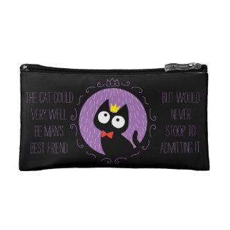 King of Black kitten Cosmetic Bag