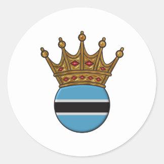King Of Botswana Round Sticker