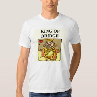 king of bridge duplicate game player tee shirts