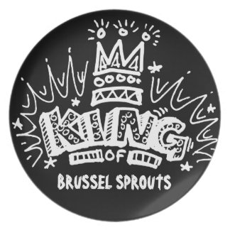 King Of Brussel Sprouts Party Plates